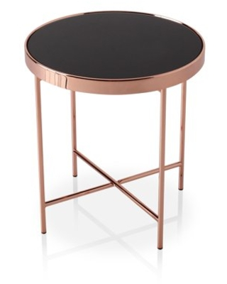Terrah Glass Top Round End Table - furniture of america
