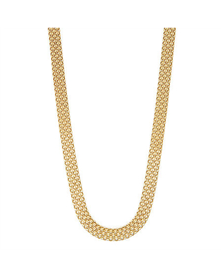 10K 18 Inch Hollow Link Chain Necklace - fine jewelry