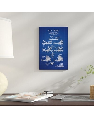 L P Kelly et al Fly Hook Patent Sketch' Graphic Art Print on Canvas - east urban home
