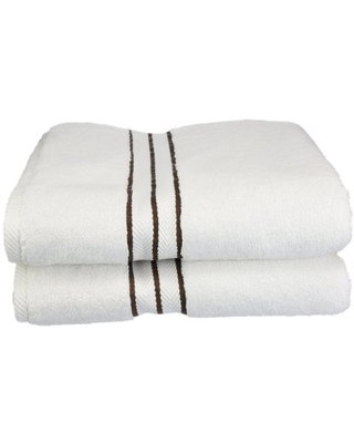 Turkish Cotton Plush 2 Piece Solid Highly Absorbent Charcoal by Superior - impressions