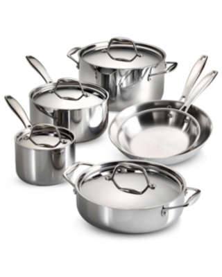Gourmet Tri Ply Clad 10 Pc Cookware Set - tramontina