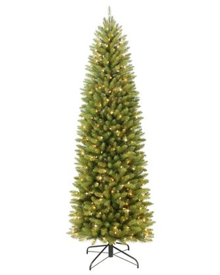 5 ft Pre lit Fraser Fir Pencil Artificial Christmas Tree with 250 UL listed Clear Lights - puleo international
