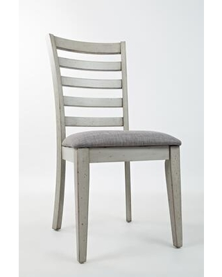 BM183810 Wooden Dining Chair with Fabric Upholstered Seat Two - benzara