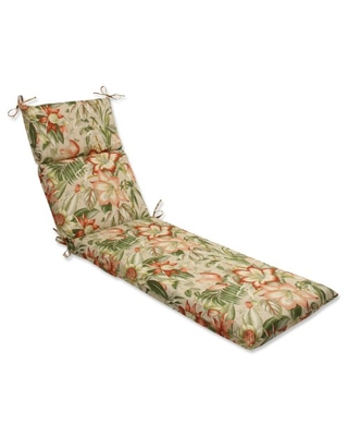 Outdoor Indoor Botanical Glow Tiger Stripe Chaise Lounge Cushion 1 Count - pillow perfect