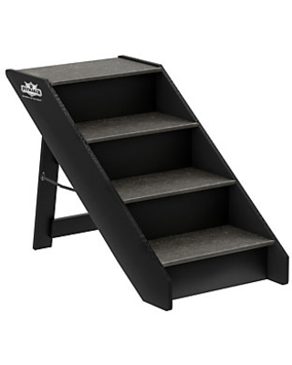 Folding Pet Stairs Carpeted Foldable Wood Steps - petmaker