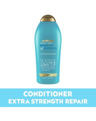 Extra Strength Hydrate & Repair + Argan Oil of Morocco Conditioner for Dry Damaged Hair Cold Pressed Argan Oil to Moisturize Hair Paraben Free Sulfate Free Surfactants - ogx