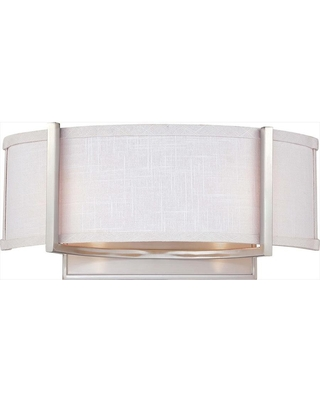 25 in W 2 Light Brushed Nickel Modern Contemporary Wall Sconce LW SC531431 - lowe's