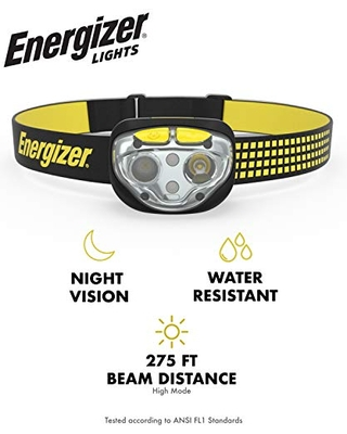 LED Headlamp Flashlight 400 High Lumens For Camping Running Hiking Emergency Light Survival Kit Head Lamp Rechargeable Headlamp Water Resistant Headlight 6 Modes 400 Lumens - energizer