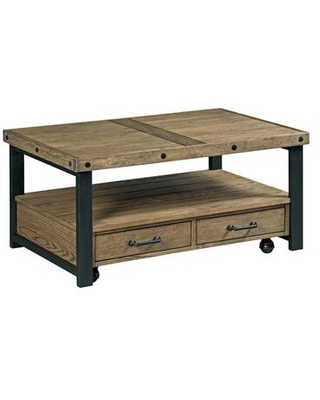 Workbench Hamilton Collection 790 913 Small Rectangular Cocktail Table in Rustic - hammary