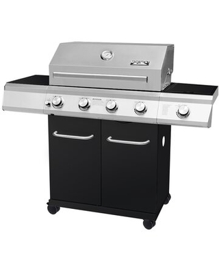 4 Burner Free Standing Liquid Propane 60000 BTU Gas Grill with Side Burner and Cabinet - monument grills