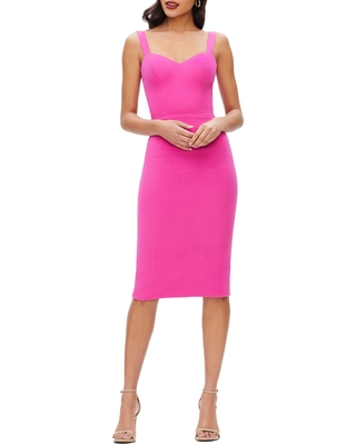 Dress the Population Nicole Sweetheart Neck Cocktail Dress, Size Xx-Small in Bright Fuchsia at Nordstrom