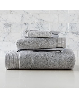 Organic Premium Spa Towel Set Frost - undefined