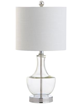 Colette 20 in Clear Mini Glass Table Lamp - jonathan y