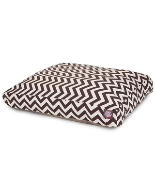 Chocolate Polyester Rectangular 44 in x 36 in Dog Bed For Large 788995502241 - majestic pet products