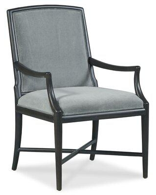 Fairfield Chair Clayton Upholstered Arm Chair Upholstered in Blue/Brown, Size 37.75 H x 24.5 W x 27.25 D in   Wayfair 8821-04_9953 66_Walnut