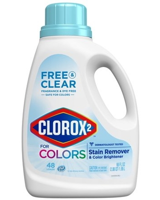 2 Free Laundry Stain Remover and Color Booster Bottle - clorox