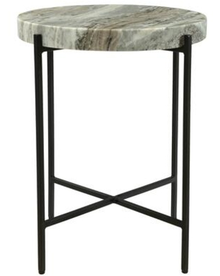 Cirque Collection IK 1010 21 Accent Table with Iron Base - moes home collection
