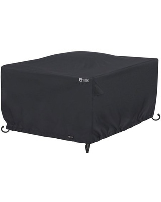 Water Resistant 42 Inch Square Fire Pit Table Cover - classic accessories