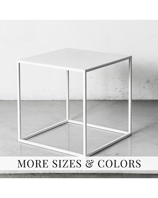 Cube Side Table End Table Stool or Nightstand Powder Coated - patrick cain designs
