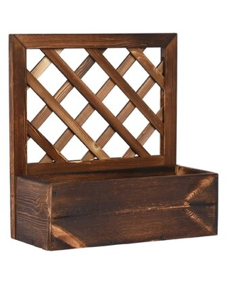 Solid Pine Wood Planter Wall Planter - millwood pines