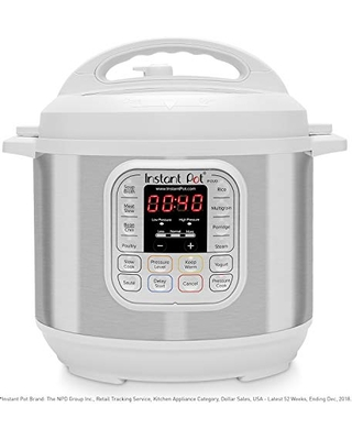 Duo 7 in 1 Electric Pressure Cooker Slow Cooker Rice Cooker Steamer Saute Yogurt Maker and Warmer 11 One Touch Programs 6 QT - instant pot