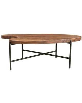 Adzuki Collection VE 1052 03 Coffee Table with Powder Coated Iron Base - moes home collection