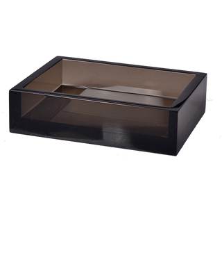 Smoked Ice Lucite Soap Dish - mike & ally