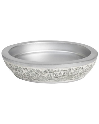 Glamour Bath Accessory Collection Poly Resin Bathroom Soap Dish - sweet home collection