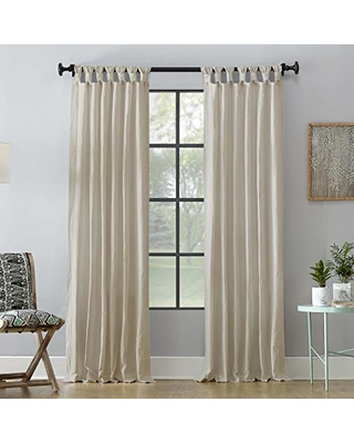 Washed 100% Cotton Twist Tab Curtain Panel - archaeo