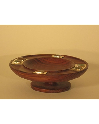 Cocobolo dish with turquoise stones - alchemy works