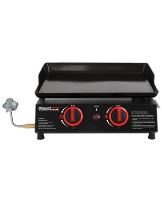 PD1203A 18 Inch 2 Burner Portable Countertop Griddle 16 000 BTU Gas Grill Griddle - royal gourmet