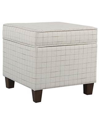 Square Storage Ottoman with Lift Off Lid - homepop