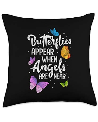 Appear When Angels are Near Cute Butterfly Throw Pillow 18x18 - cute butterfly gifts