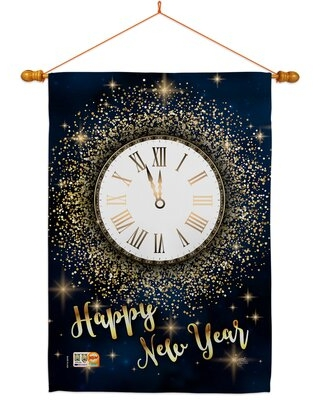 Countdown New Year 2-Sided Polyester 40 x 28 in. Flag set