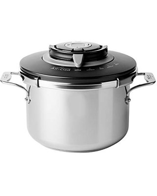 PC8 Precision Stainless Steel Pressure Cooker Cookware 4 Quart - all-clad