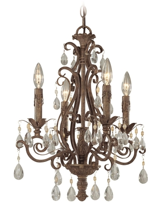 Englewood 17 Inch 4 Light Mini Chandelier Englewood 25624 FR Traditional - craftmade