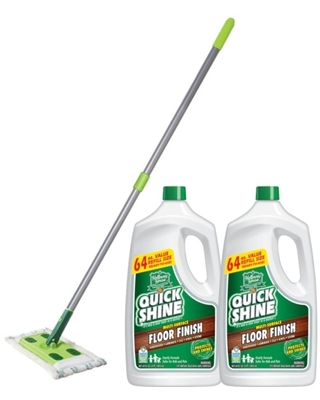 Multi Surface Floor Finish and Mop Bundle - quick shine