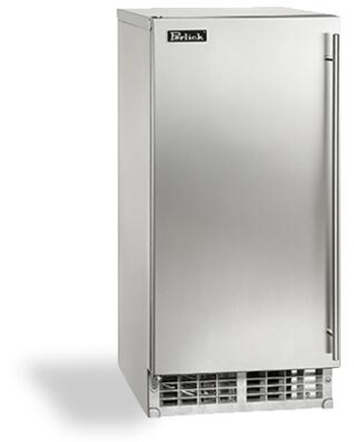 H80CIMS ADL door Outdoor Stainless Steel Cubelet Ice Maker with 80 lb Daily Ice Production 22 lb Storage ADA Compliant Stainless Steel - perlick
