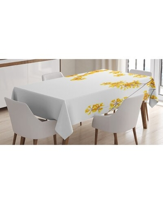 Ambesonne Tablecloth Flower Tree Branches Bloom Blossoming In Spring Garden Sun Rays Nature Theme Home Rectangular Table Cover For Dining Roo - east urban home