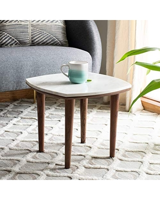 Home Collection Lara Wash and Marble Side Table - safavieh