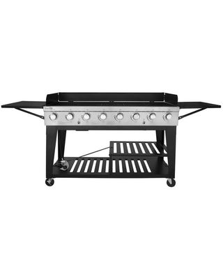 8 Burner Event Propane Gas Grill with 2 Folding Side Tables stainless steel and - royal gourmet