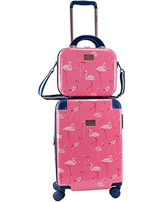 Chariot 2 piece set Hardside Expandable Carry On Luggage With Matching Beauty Case - chariot travelware