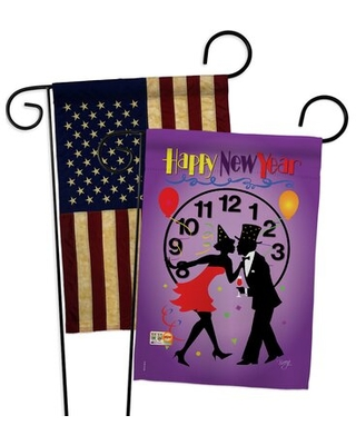 New Year Garden Flags Pack Winter Yard Banner 13 X 18.5 Inches Double-Sided Decorative Home Decor