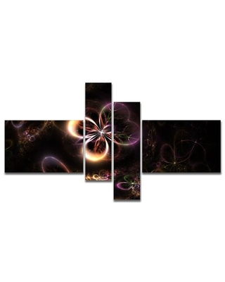 Glowing Small Fractal Flowers' Graphic Art Print Multi Piece Image on Canvas - east urban home