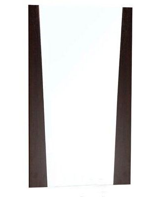American Imaginations Modern Wall Accent Mirror Wood in Brown, Size 34.0 H x 21.0 W x 2.0 D in | Wayfair AI-2-1210