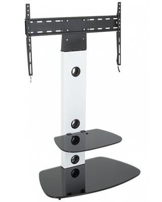 FSL700LUCSW A TV Stand with TV Mount Sat Column with Tempered Glass Shelf Fits most TVs - avf