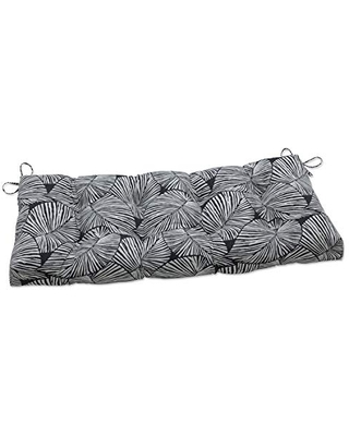 Outdoor Indoor Talia Noir Tufted Bench Swing Cushion - pillow perfect