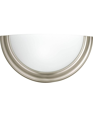 Eclipse 1 Light Brushed Nickel Wall Sconce with Satin Glass - progress lighting
