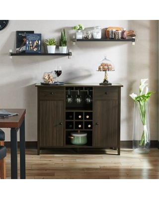 Levy Wood Wine Storage Buffet Table Wenge - furniture of america