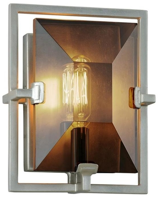 Prism 7 in W 1 Light Silver Leaf Modern Contemporary Wall Sconce B7092 - troy lighting
